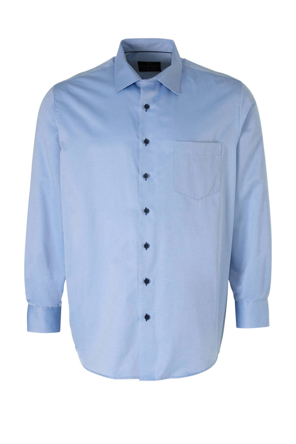 C&A XL Canda regular fit overhemd lichtblauw, Lichtblauw