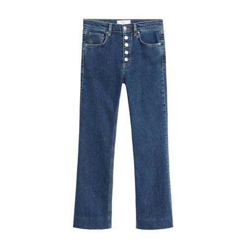 Mango high waist bootcut jeans blauw