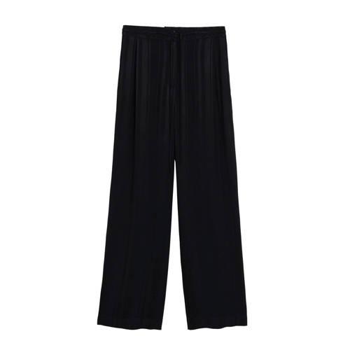 Mango gestreepte high waist straight fit pantalon