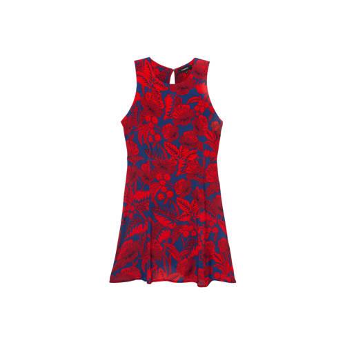 Desigual gebloemde halter A lijn jurk blauw rood, Deze damesjurk van Desigual is gemaakt van viscose en heeft een bloemenprint. Het model beschikt over een knoopsluiting. De mouwloze jurk heeft verder een halterkraag.Extra gegevens:Merk: DesigualModel: Jurk (Dames)Voorraad: 6Verzendkosten: 0.00Plaatje: Fig1Plaatje: Fig2Maat/Maten: 38Levertijd: direct leverbaar