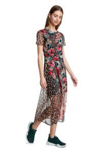 Desigual semi-transparante jurk met all over print multi, Multi
