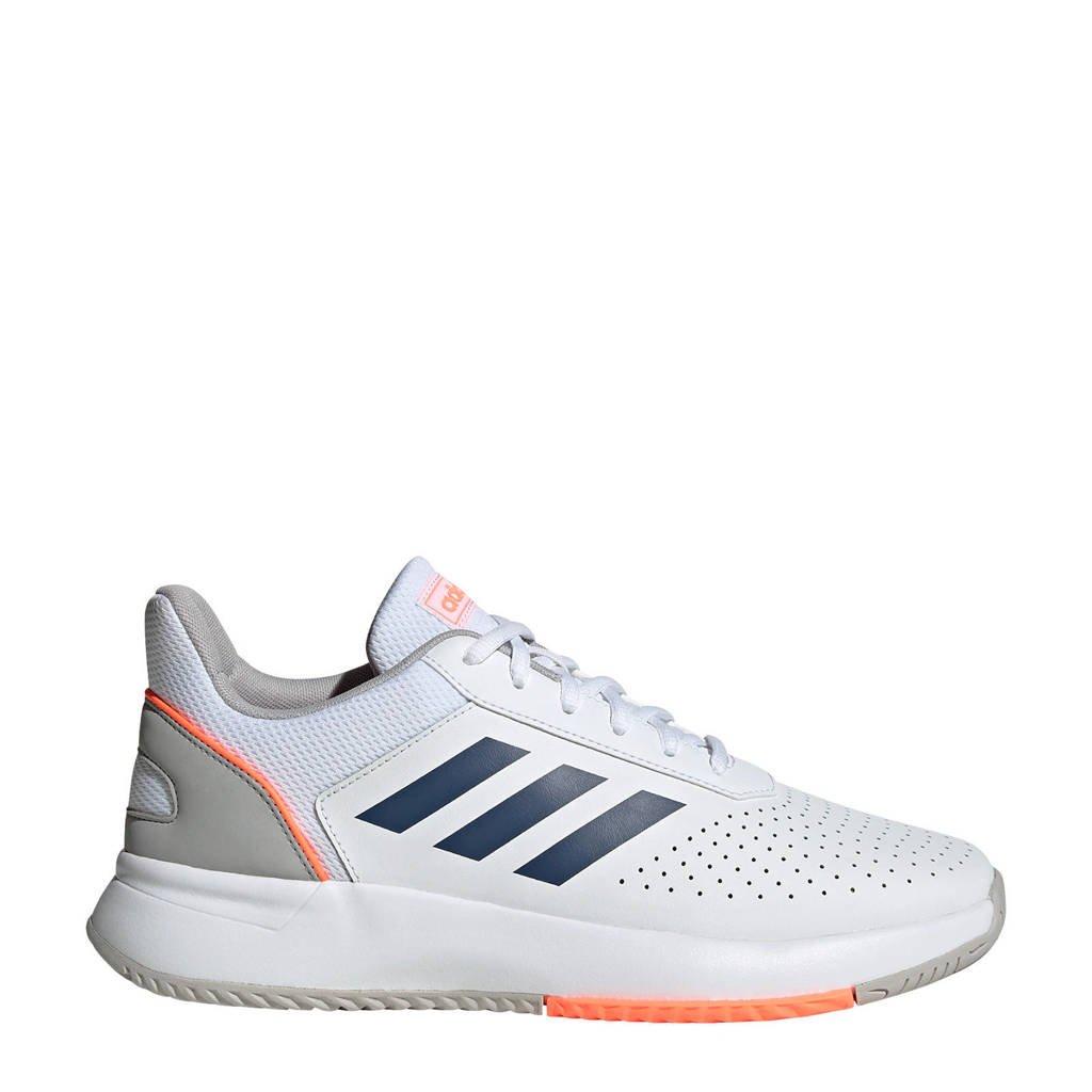 adidas Performance Courtsmash  tennisschoenen wit, Wit/blauw/oranje