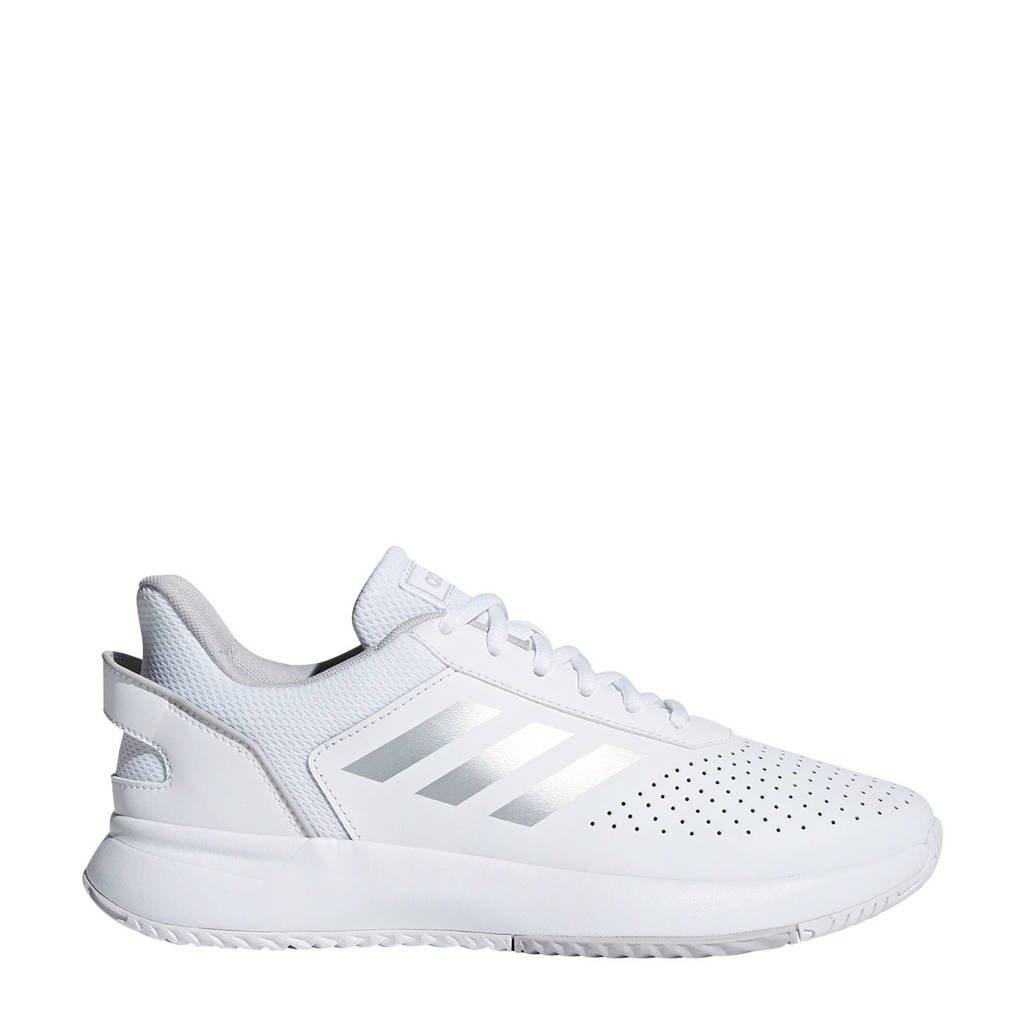 adidas Performance Courtsmash Classic tennisschoenen wit/zilver, Wit/zilver