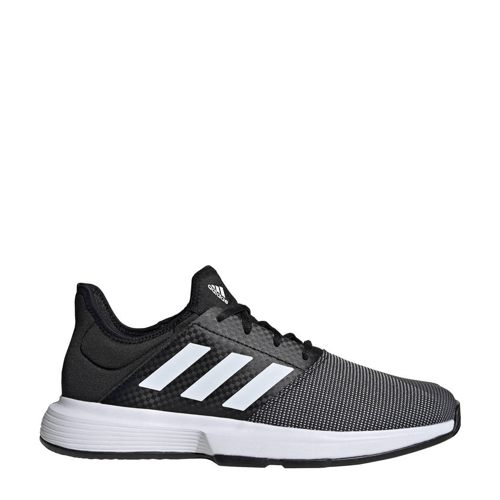 adidas Performance GameCourt  tennisschoenen zwart/wit, Zwart/wit