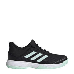 adizero club k tennisschoenen zwart/mintgroen kids
