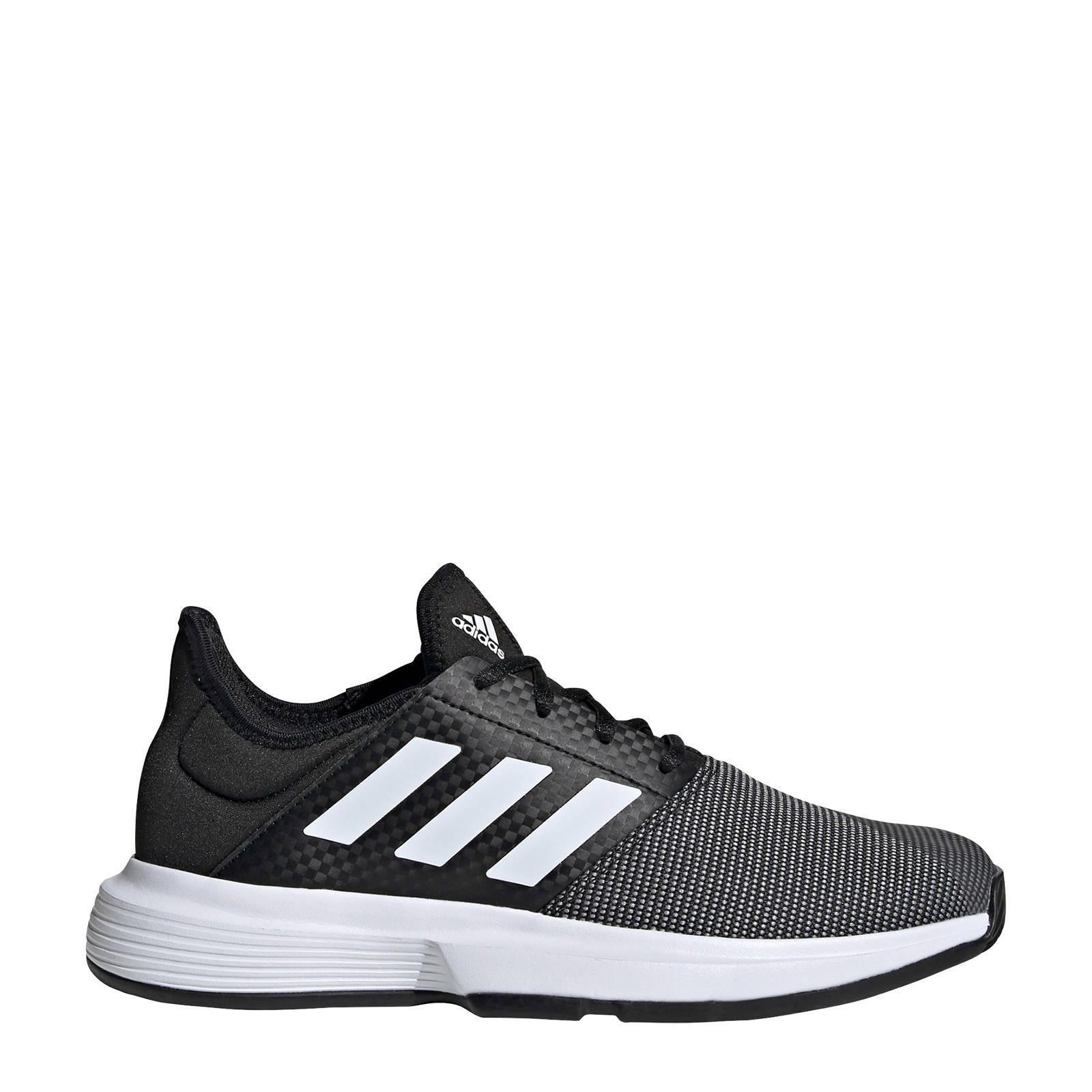 adidas Performance GameCourt tennisschoenen zwart/wit   wehkamp