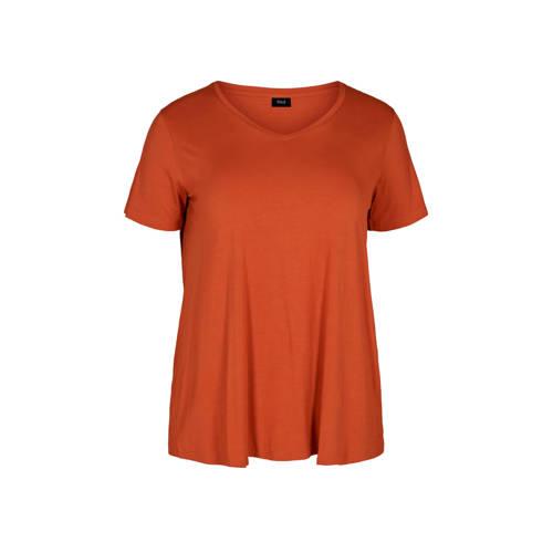 Zizzi T-shirt brique