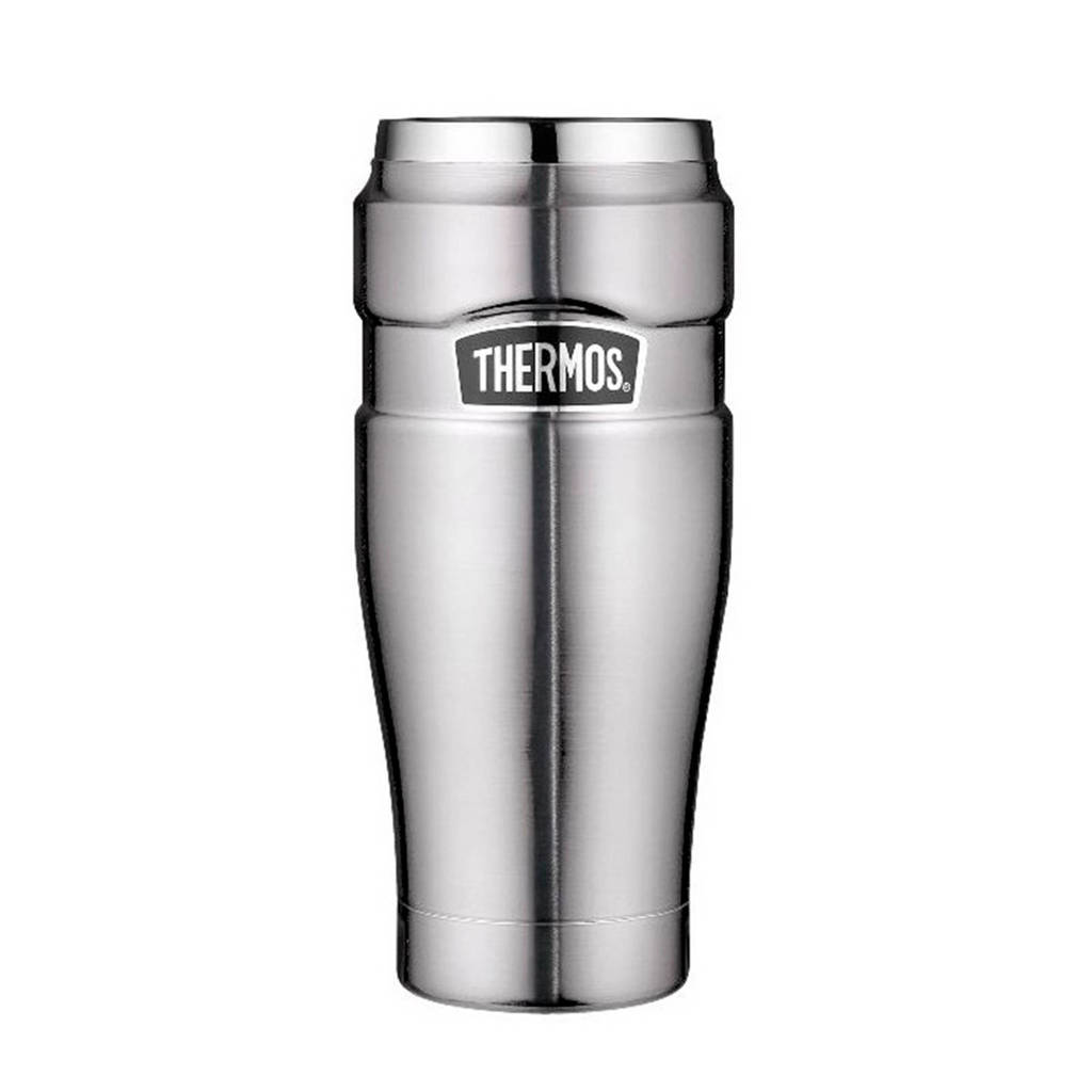 Thermos thermosbeker King RVS 0,47 l, Zilverkleurig