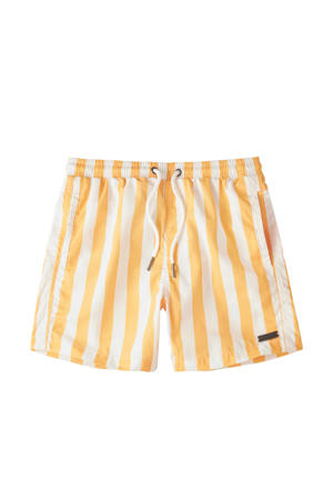 gestreepte strandshort geel/wit
