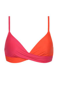 Beachlife bikinitop roze/rood, Roze/rood