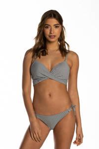 Beachlife gestreepte beugel bikinitop donkerblauw/wit, Donkerblauw/wit