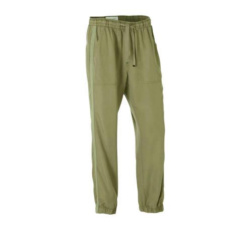 FREEQUENT high waist slim fit broek met zijstreep