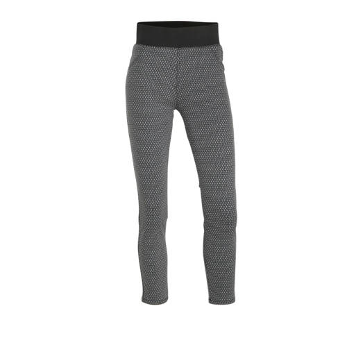 FREEQUENT high waist slim fit broek met all over p