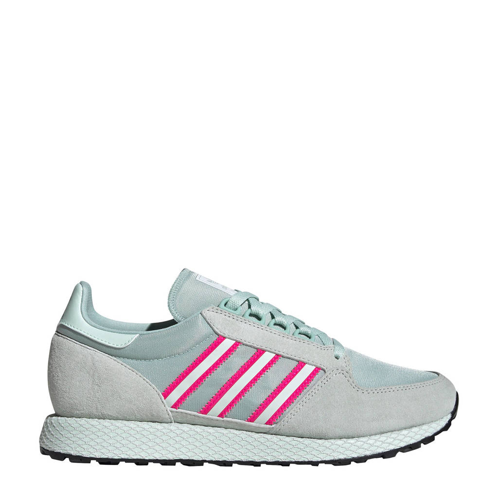 adidas Originals Forest Grove  sneakers lichtgrijs/mintgroen/fuchsia, Mintgroen/lichtgrijs/fuchsia