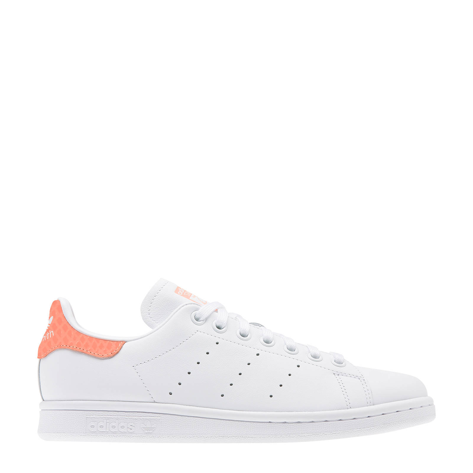 adidas Originals Stan Smith W leren sneakers witkoraal