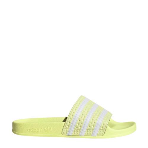 adidas Originals Adilette badslippers lichtgeel/wi