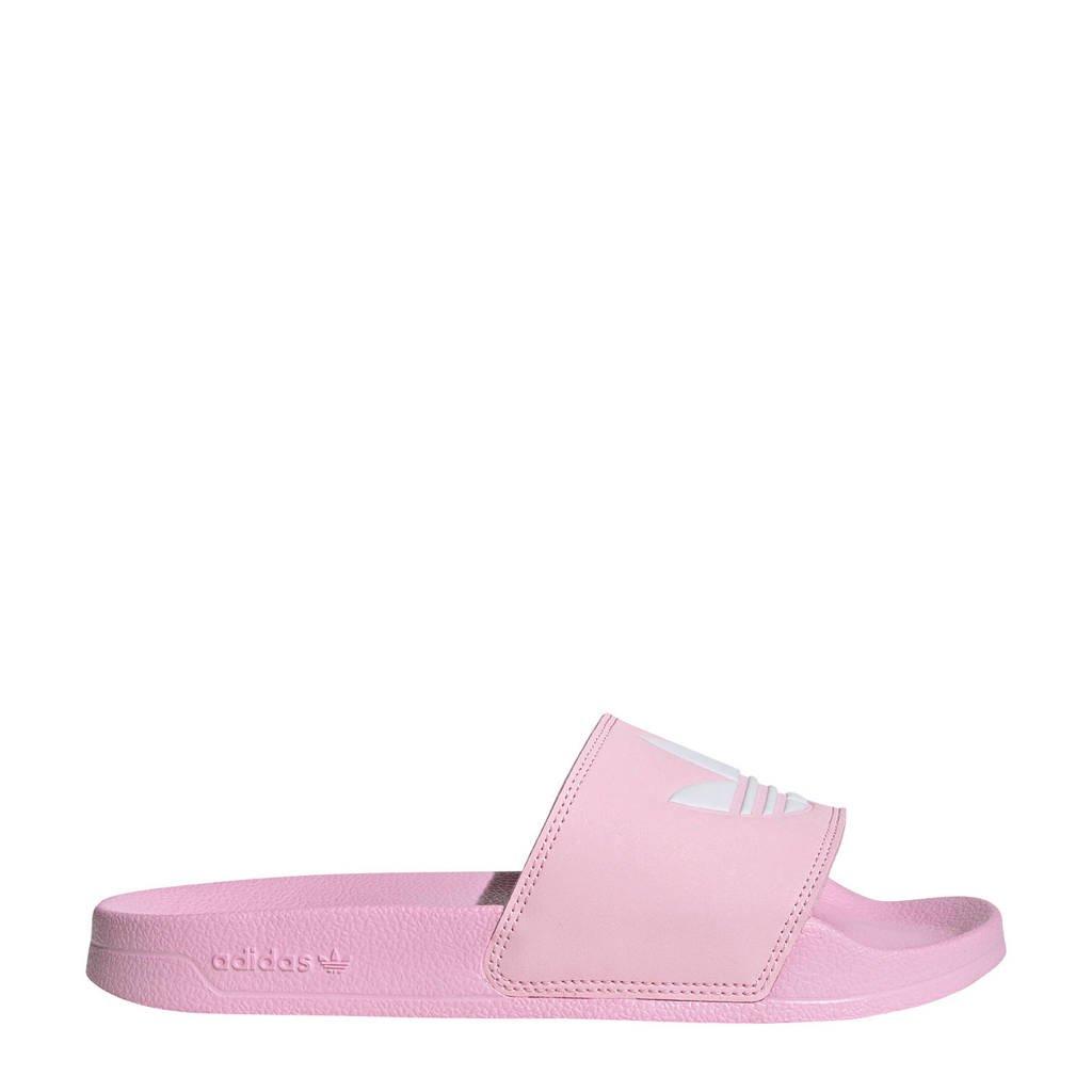 adidas Originals Adilette Lite badslippers roze/wit, Roze/wit