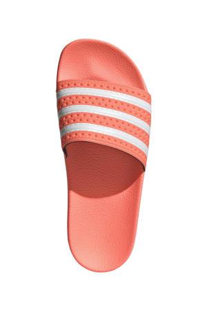 Adilette  badslippers roze/wit