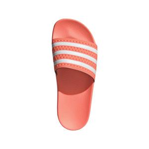 Adilette  slippers neonroze/wit