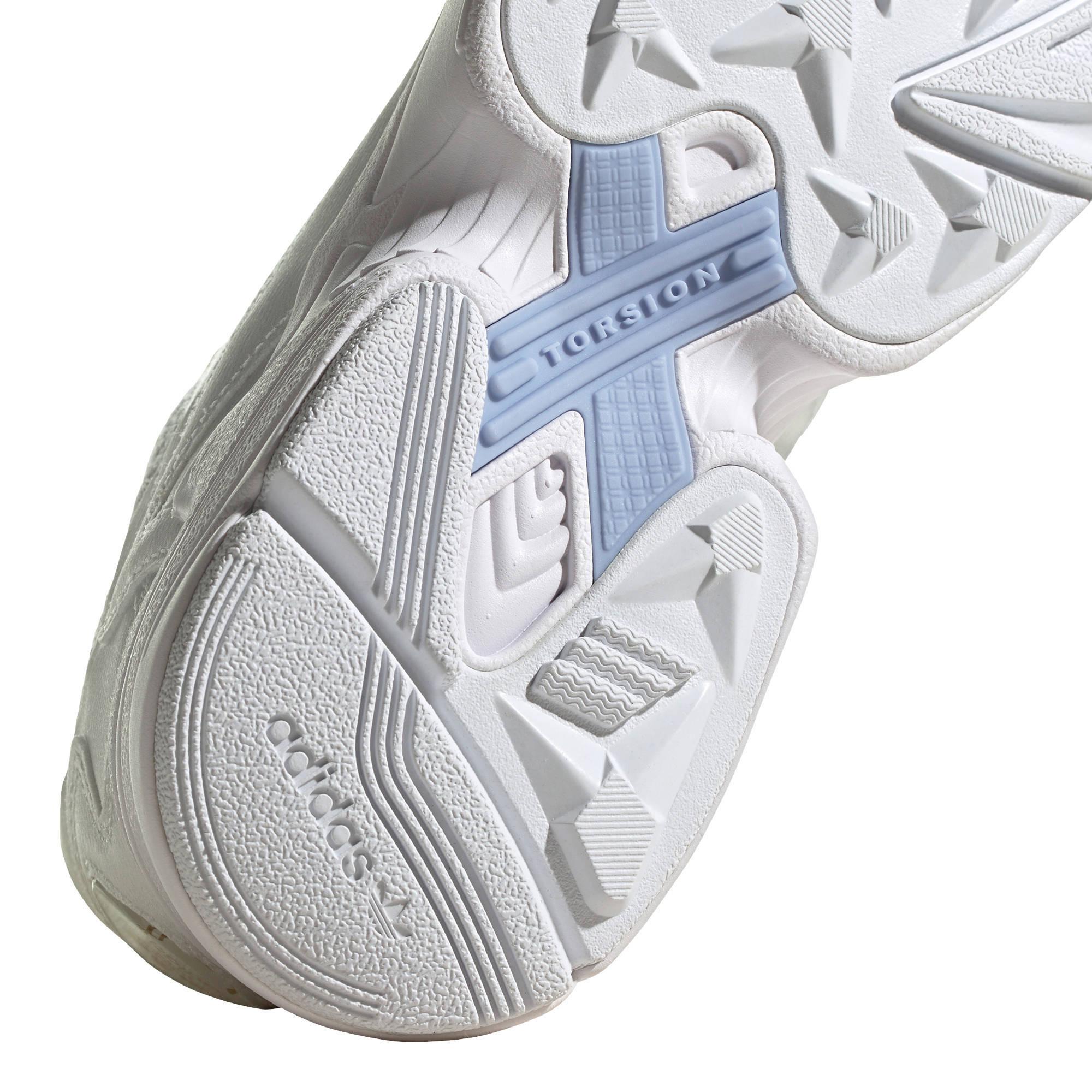 Falcon W sneakers witgoud metallic