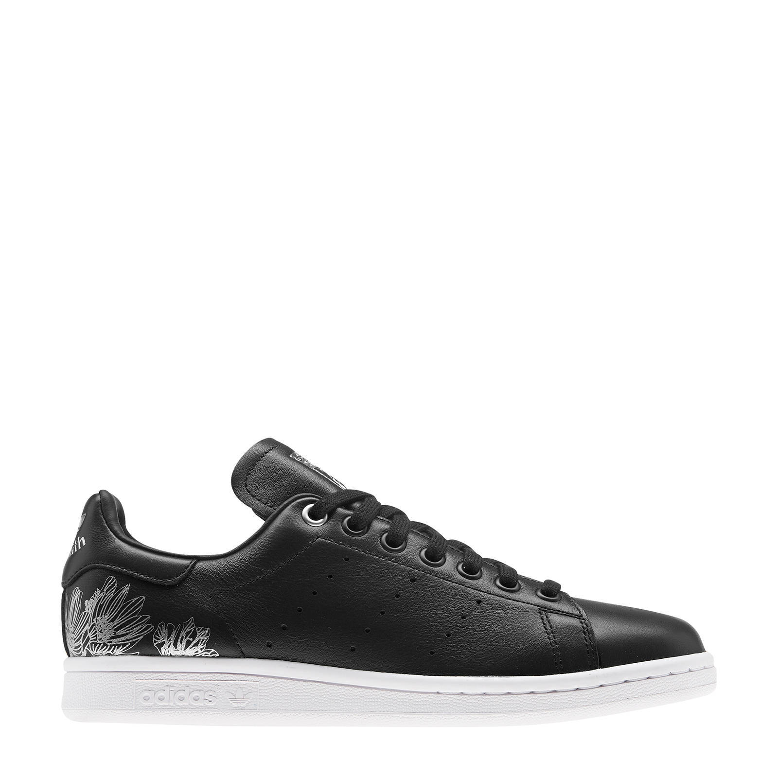 adidas Originals Stan Smith W leren sneakers zwartzilver