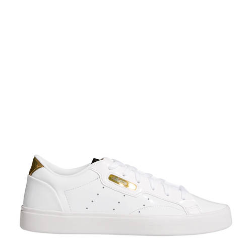 adidas Originals Sleek W leren sneakers wit