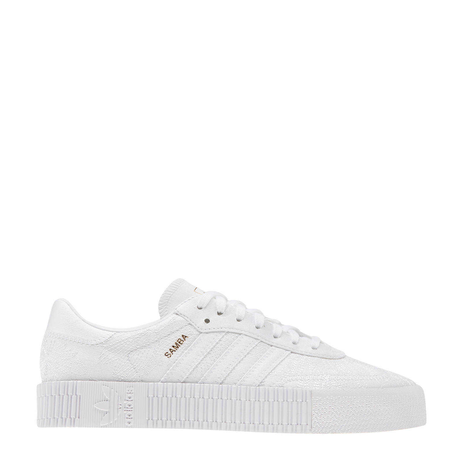 adidas Originals Sambarose W sneakers wit | wehkamp