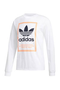 adidas Originals   sweater wit, Wit/zwart/oranje