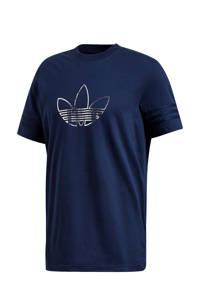adidas Originals T-shirt donkerblauw/zilver, Donkerblauw/zilver