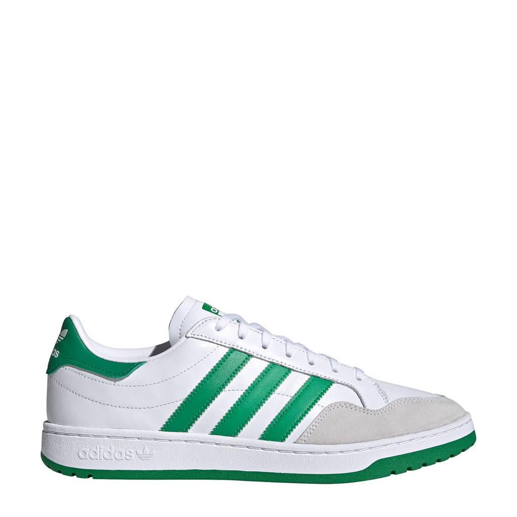 adidas Originals Team Court  sneakers wit/groen/zwart, Wit/groen/zwart