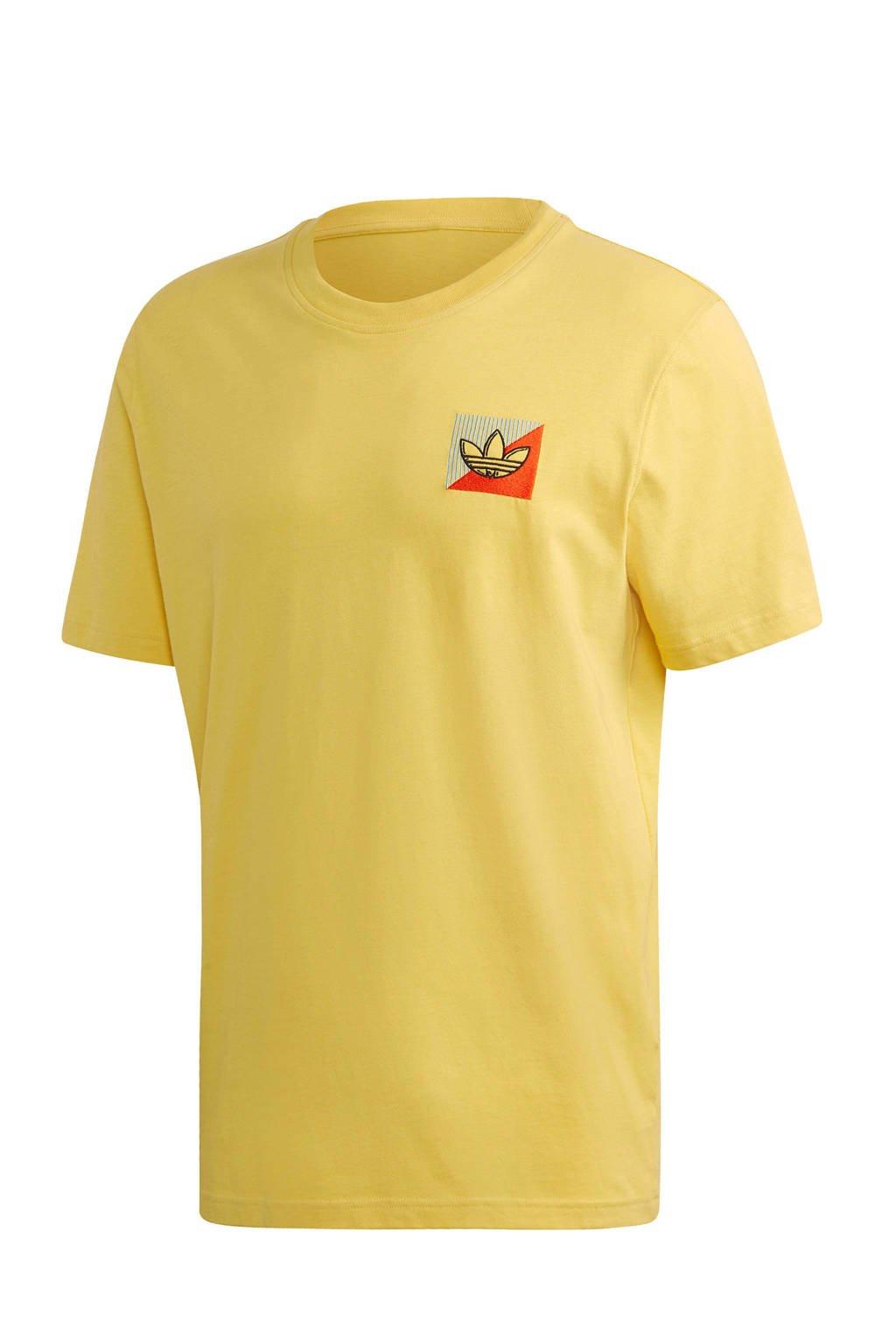 adidas Originals   T-shirt geel, Geel