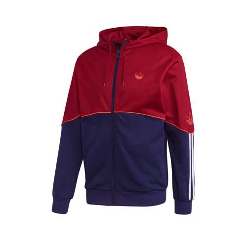 adidas originals vest donkerblauw-rood