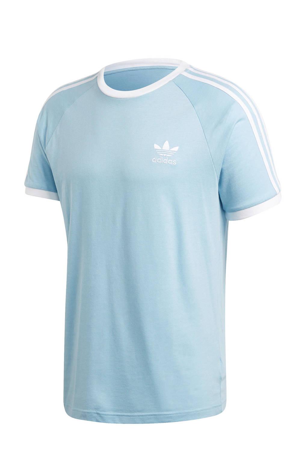 adidas Originals Adicolor T-shirt lichtblauw/wit, Lichtblauw/wit