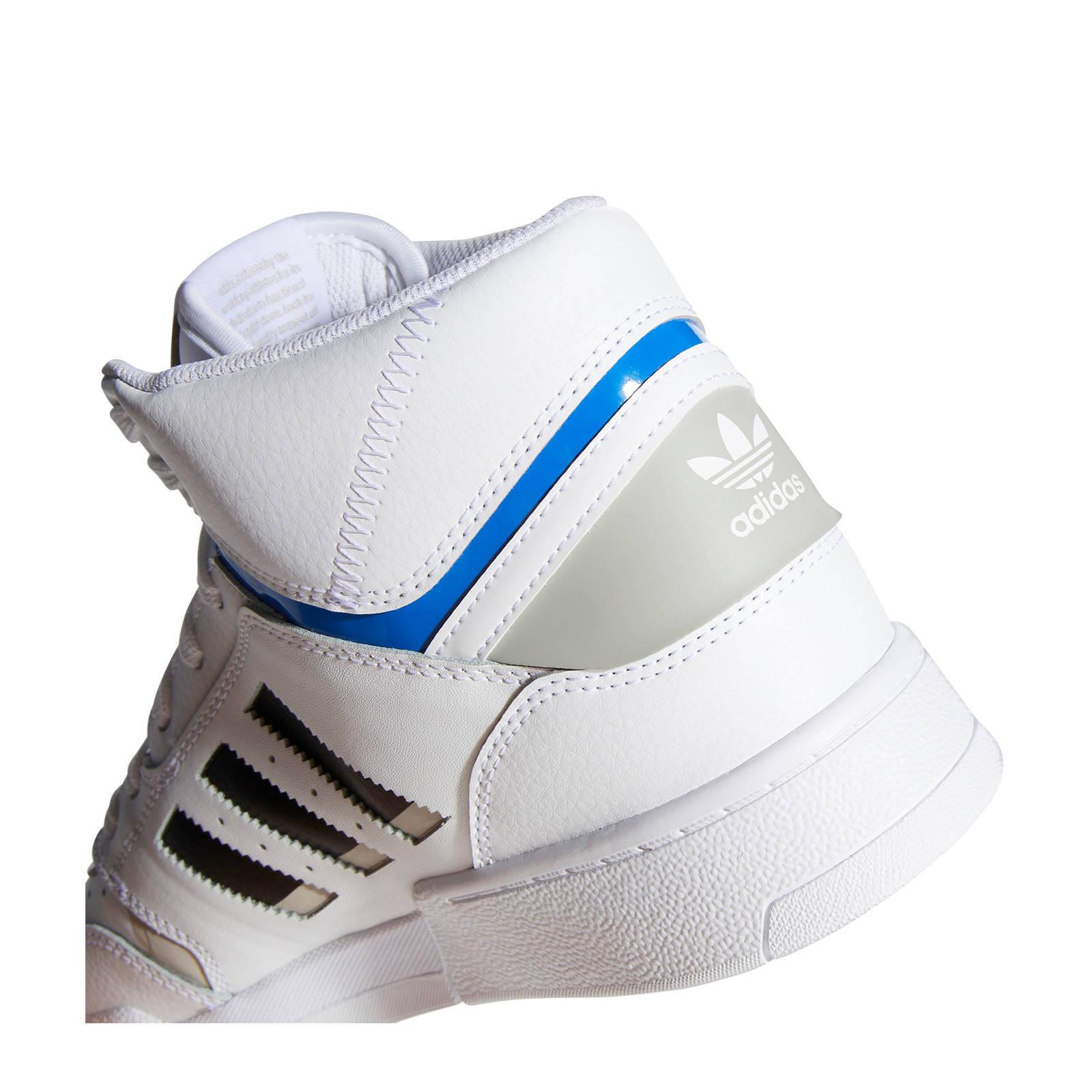 adidas Originals Drop Step leren sneakers grijsblauwwit