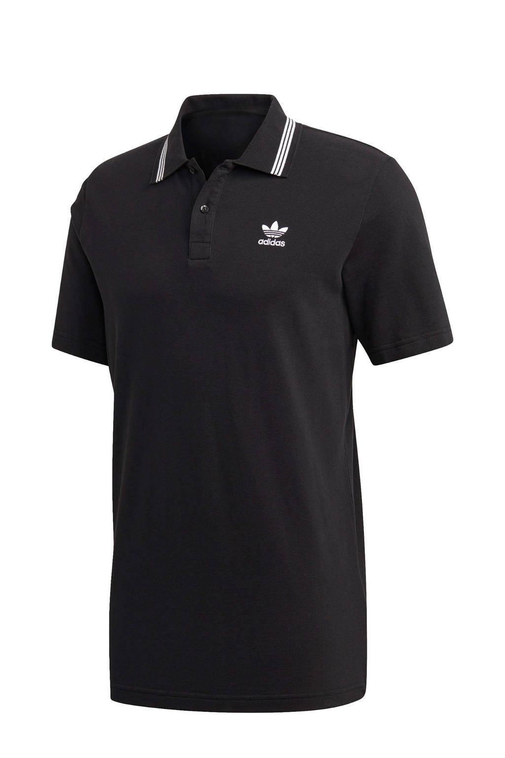 adidas Originals   Adicolor polo zwart/wit, Zwart/wit