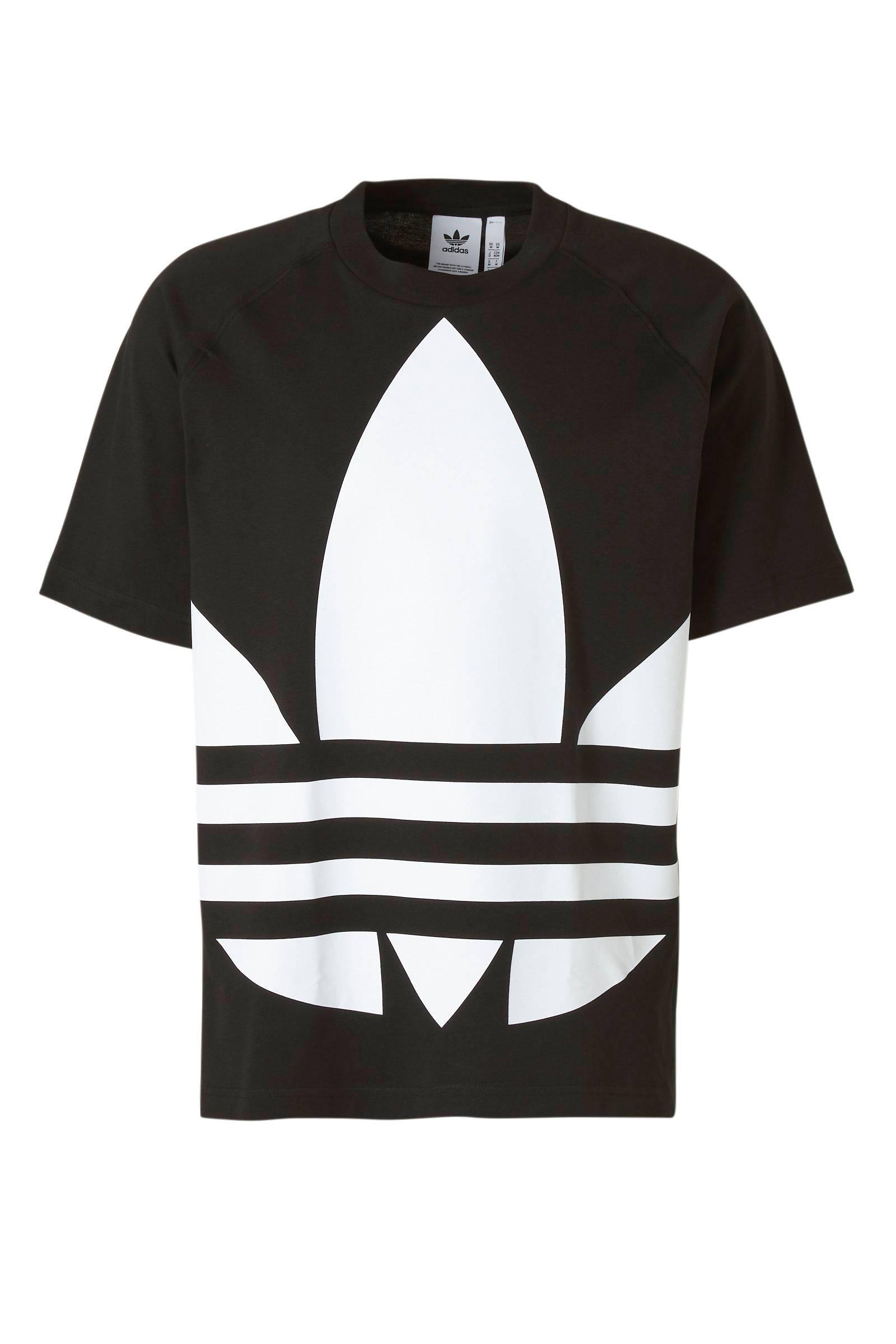 adidas t shirt zwart wit