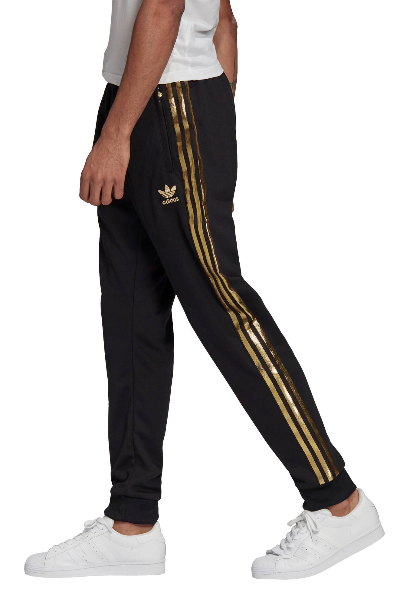 trainingsbroek zwart/goud
