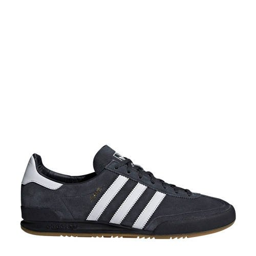 adidas Originals Jeans leren sneakers antraciet-wit