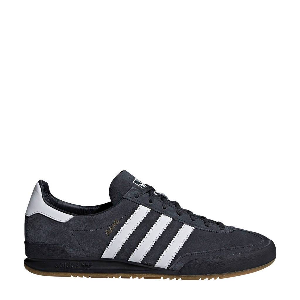 adidas Originals Jeans  leren sneakers antraciet/wit, Antraciet