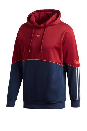 hoodie rood/donkerblauw