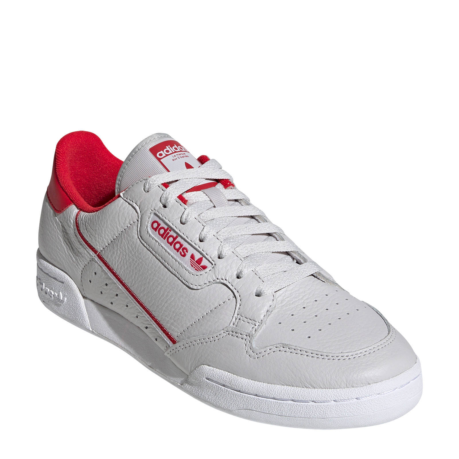 adidas Originals Continental 80 leren sneakers lichtgrijs ...