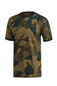 adidas Originals   T-shirt camouflageprint, Kaki