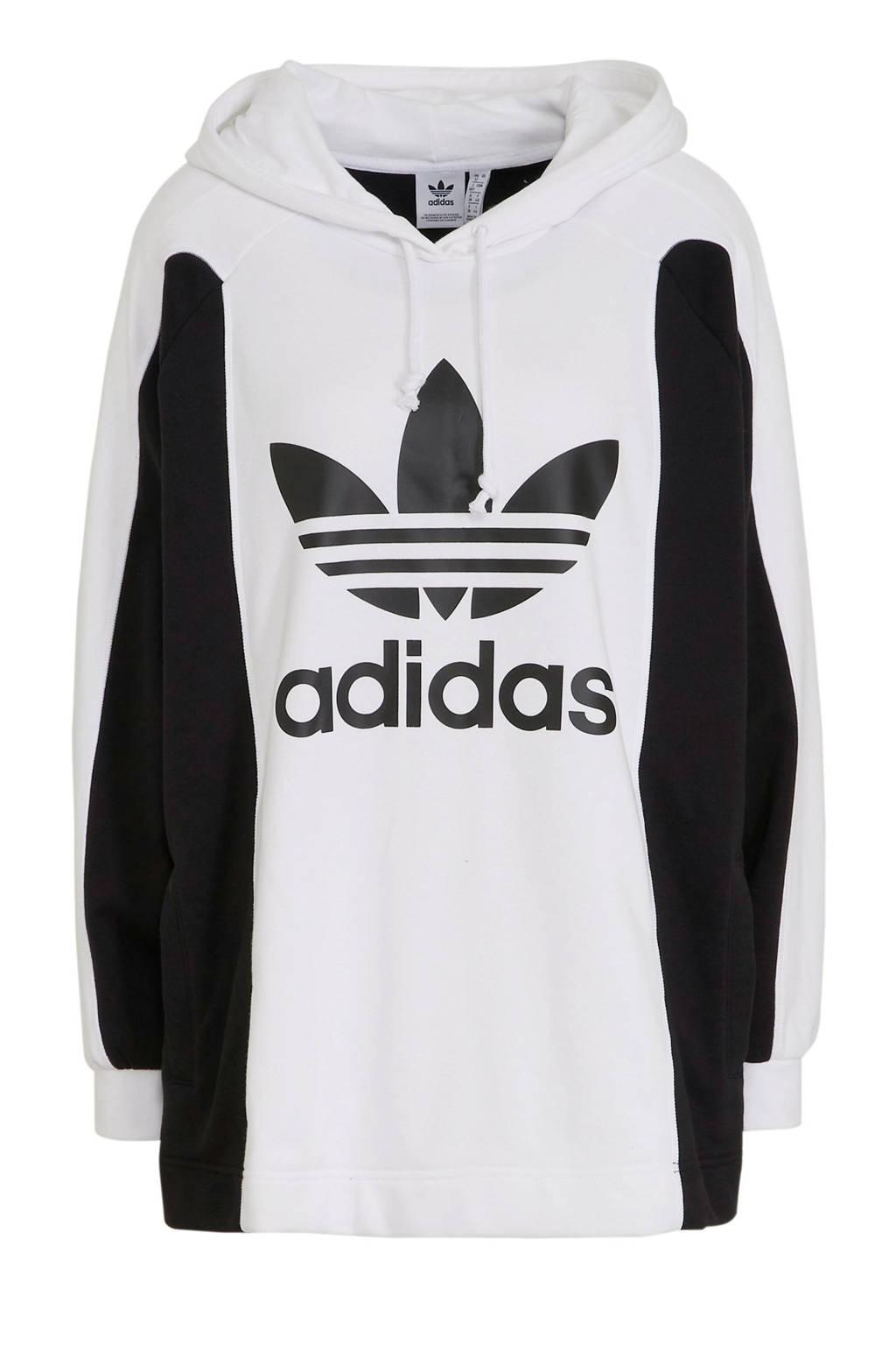 adidas Originals hoodie wit/zwart, Wit/zwart