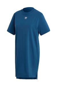 adidas Originals Adicolor T-shirt jurk blauw/wit, Blauw/wit