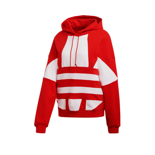 adidas Originals Adicolor hoodie rood/wit