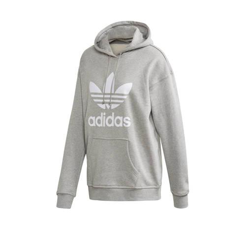 adidas Originals Adicolor hoodie grijs melange/wit