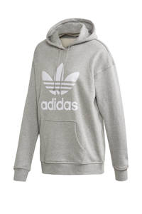 adidas Originals Adicolor hoodie grijs melange/wit, Grijs melange/wit