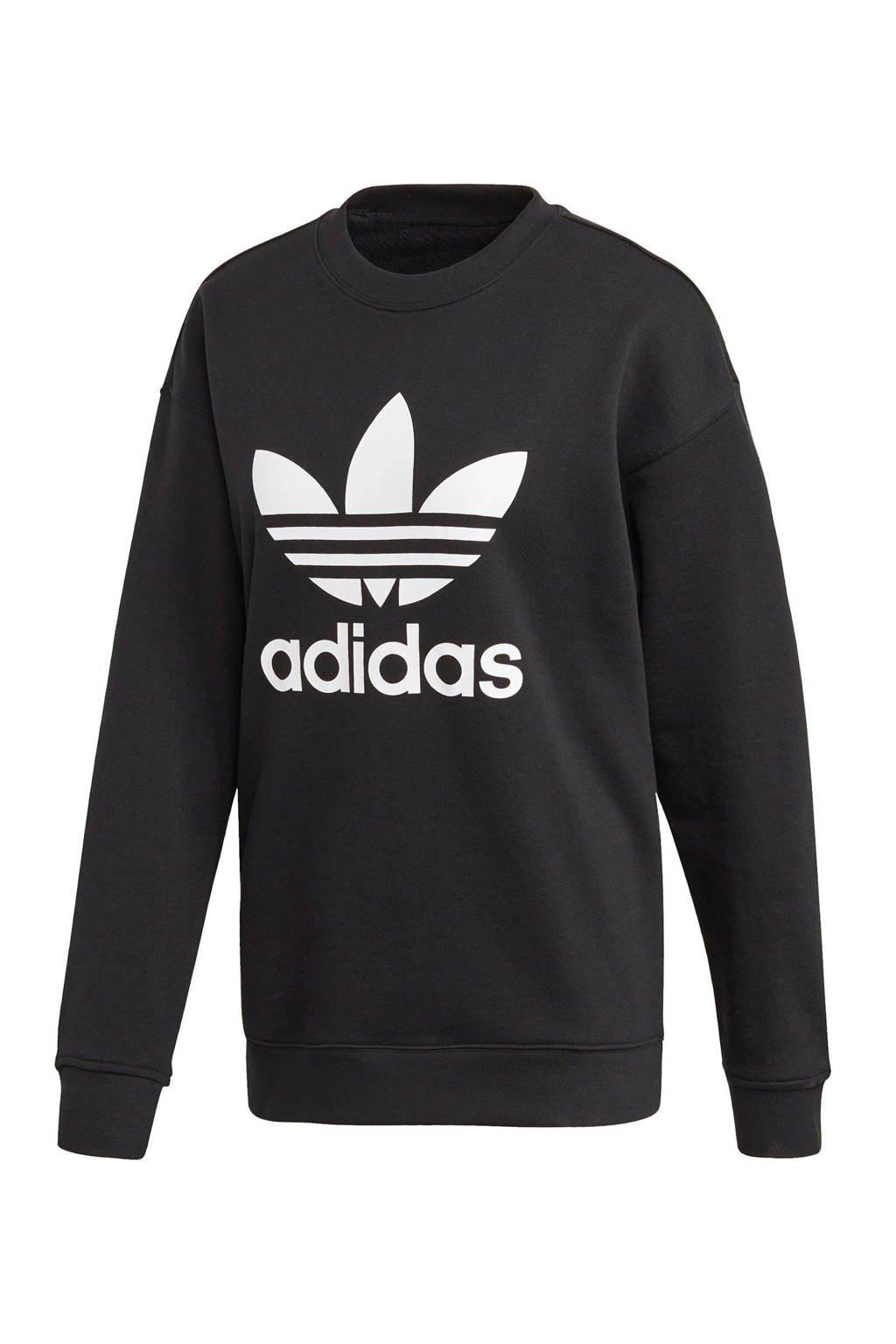 adidas Originals Adicolor sweater zwart/wit, Zwart/wit