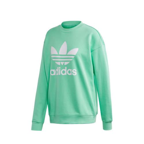 adidas originals sweater mintgroen