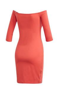 adidas Originals Adicolor off shoulder jurk koraalrood, Koraalrood